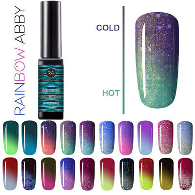 Gel Nail Polish Thermal Color Change Base Top UV Soak Off Color Changing Nail US