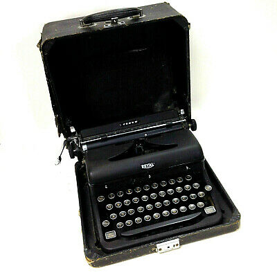 Antique ROYAL ARROW Portable TYPEWRITER Made in USA