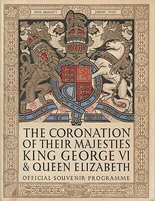 The Coronation Of their Majesties King George VI & Queen Elizabeth - Australia
