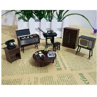 6Pcs /Set Doll House Miniature Japanese Vintage Mini Furniture DIY Accessories