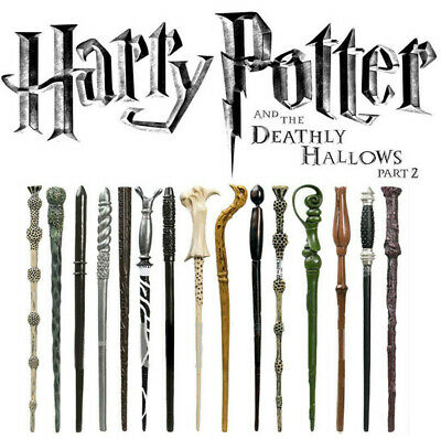 Harry Potter Wand With Metal Hermione/Voldemort /Dumbledore In Box Film Replica