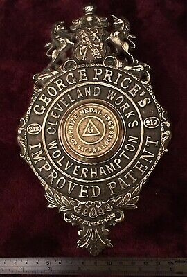 Genuine Antique/Vintage George Price Cast Brass Safe Plaque/Plate/Escutcheon