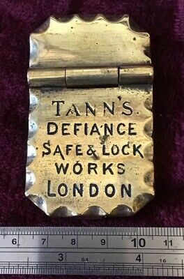 Genuine Antique/Vintage Tanns Defiance Safe Plaque/Plate/Escutcheon/Badge
