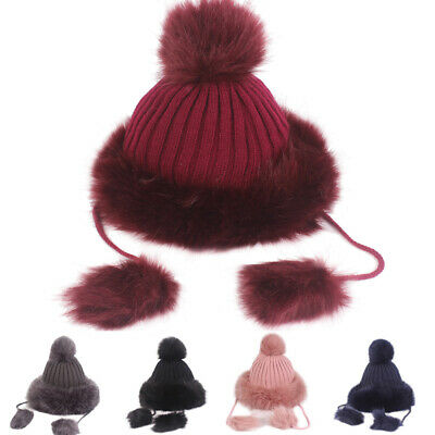 Women Ladies Winter Warm Slouchy Baggy Pom Pom Skis Beanies Cap Thick Hat