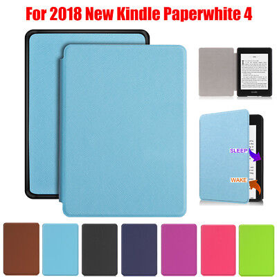 Ultra Slim Smart PU Leather Protective Cover Case For 2018 Kindle Paperwhite 4