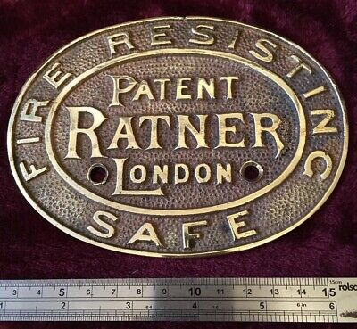 Genuine Antique/vintage Ratner Safe Plaque/Plate/Badge