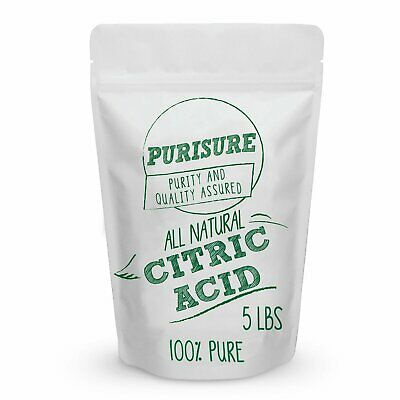 Purisure Citric Acid Powder Non-GMO Food Preservative & Cleaning Agent 5 lbs