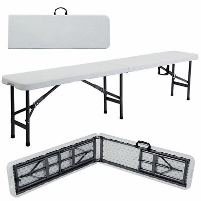 6' Portable Plastic In/Outdoor Picnic Party Camping Dining Folding Bench Off