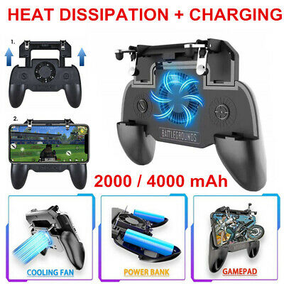 Mobile Phone Game Controller Joystick Cooling Fan Gamepad for PUBG Android IOS H