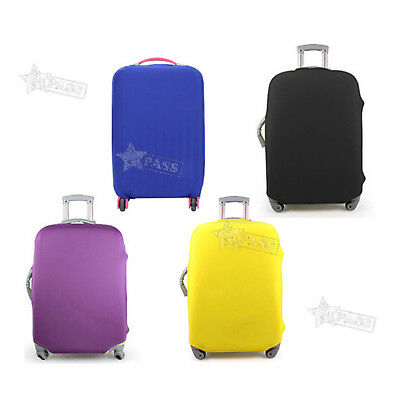 """18-20"""" Luggage Protector Elastic Protective Suitcase Dustproof Cover Bag YELLOW"""