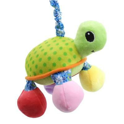 Newborn Baby Cartoon Plush Turtle Teether Plush Toy Hanging Teether Toy Gift LA