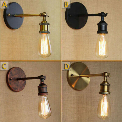 Rustic Vintage Industrial Wall Edison Light Sconce Lamp Bulb Holder Fixture
