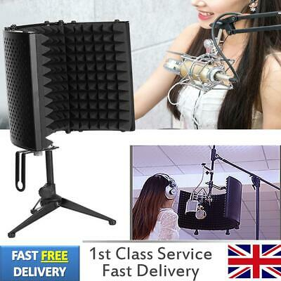 Microphone Isolation Shield Microphone Acoustic Screen Foldable Mic Isolation