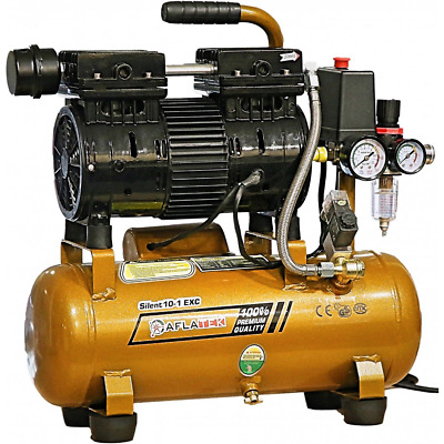 AFLATEK Silent compressor 10 Liter oil free Low noise 66dB Air compressor Clinic