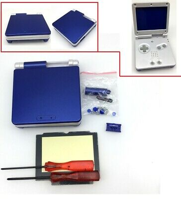 Blue And White Housing Shell Case For Nintendo Game Boy Advance SP