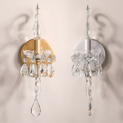 French Loft Wall Light Glass Bedroom Wall Lamp Crystal Lighting Vanity Lighting