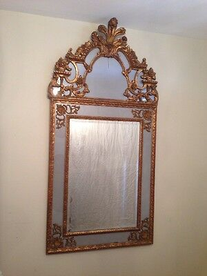 DELIVERY AVAILABLE vintage MIRROR cartouche ANTIQUE Louis XVI Style 1900's FANCY