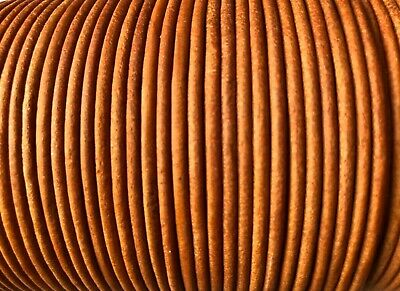 Antique Natural 2.5mm Leather Cord Lace 100m Jewellery Making Cord