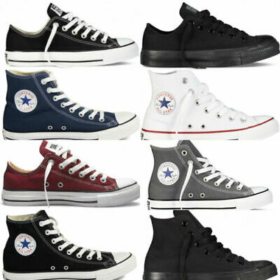 Converse Chuck Taylor New Unisex Classic All Star Lo OX Hi Tops Canvas Trainers