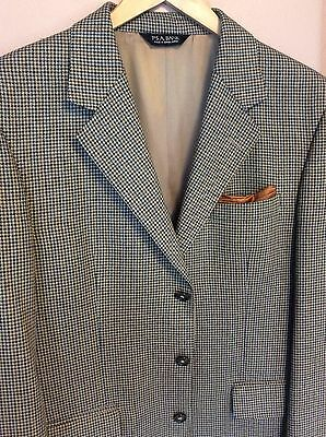 Jos. A. Bank  Stylish Tan Multi Color Mini Houndstooth Sport Coat 40S Silk&Wool