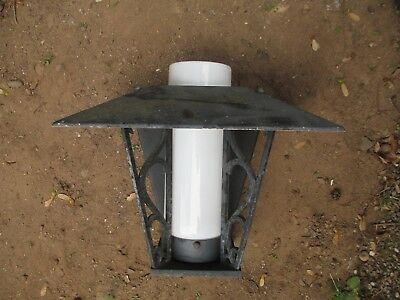 WALL SCONCE arts & crafts VINTAGE lighting PRAIRIE STYLE wide hood MODERN porch