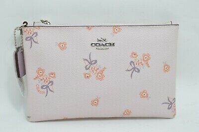 14ecb8493800a COACH Small Floral Bow Wristlet Ice Pink Floral Women's Wallet 29550 - msrp  $75