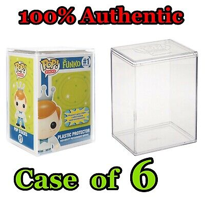 Funko Pop Stacks Premium Hard Shell Plastic Protector Stackable - Set Case of 6