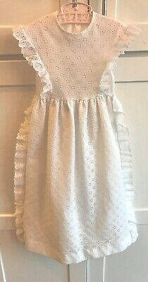 Vintage Long Baptism Christening Gown Party Dress White Lace