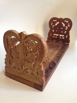 Used sliding Book Rack / Bookend WOOD