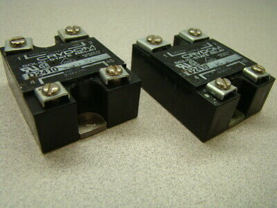 Crydom D2410 Solid State Relay, 240V, 10A, Panel Mount, QTY of 2