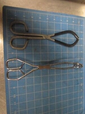 Lot Of 2 Assorted  Lab  Tongs