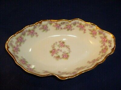 Antique Elite Works Limoges France Oval Serving Bridal Wreath Pattern 1900-1914