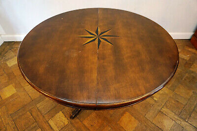 Fein Antiker Esszimmer Tisch Tafel Biedermeier old rare table 110-150cm *149