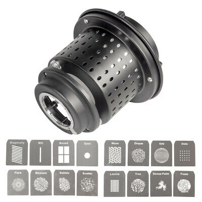 EF/Mount Optical Snoot with Gobos Kit Bowens S-Type Fitting Lighting Modifier