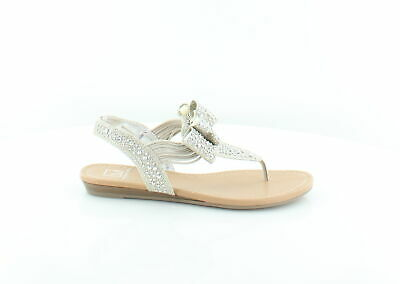 7bb71492457 Material Girl New Shayleen Silver Womens Shoes Size 5.5 M Sandals MSRP  49.5
