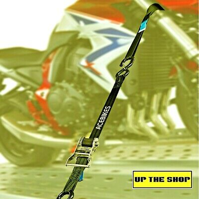 AceBikes motorcycle heavy duty 2 tie down ratchet lashing straps, Quad, Mower