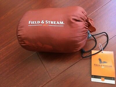 Field & Stream Camp Pillow w/ Carry Bag 18x14 Picante/Rust color NWT