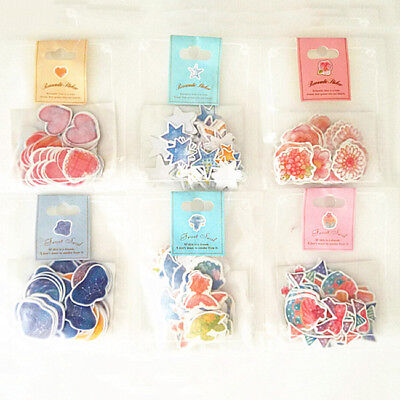 Hand made Paper Labels Gift Love Kraft Craft Stickers Packaging Scrapbooking D
