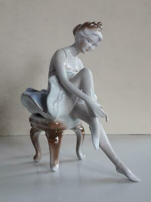 Rare Antique Beautiful Lady Porcelain Figurine- Ballerina  1960s