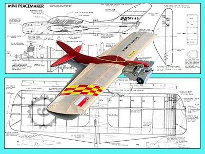 """Model Airplane Plans Sting Ray 54/"""" Stunter for .35 by Bob Gialdini UC"""