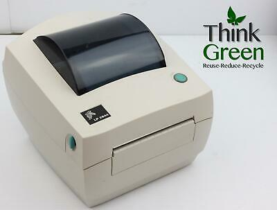 Zebra LP2844 Direct Thermal Barcode Shipping Label Printer USB Clean Working