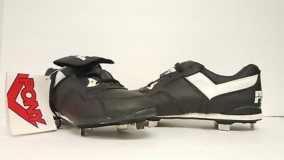 Black Leather Football Cleats Shoes