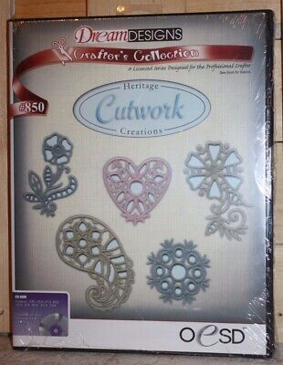 Dream Designs Heritage Cutwork Embroidery Collection CD #850 NIP