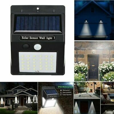 4X30LED Solar Powered PIR Motion Sensor Wall Security Light Garden Outdoor Lamp