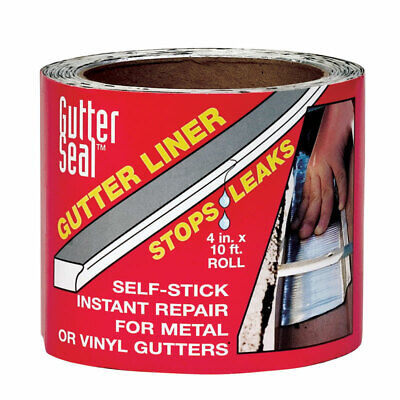 Gutter Seal  4 in. H x 4 in. W x 10 ft. L Clear  Aluminum  Gutter Seal Liner