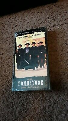 TOMBSTONE VHS Movie Color Digitally Mastered New Sealed Kurt Russell/Val Kilmer
