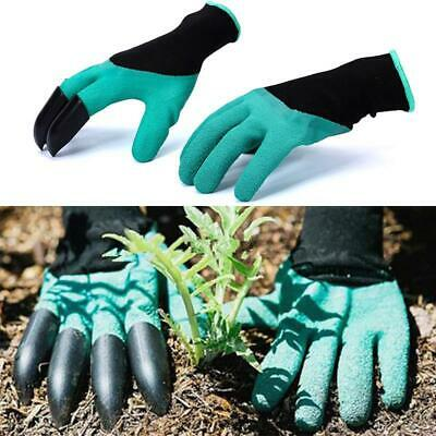 Hot Garden Genie Gloves For Digging Planting 4 ABS Plastic Claws Gardening