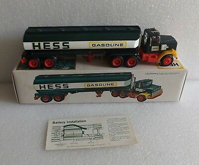 VINTAGE 1977 HESS FUEL OILS TOY TRUCK w/BOX AND INSERT INSTRUCTIONS EXCELLENT