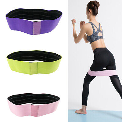 Anti-slip Wide Hip Resistance Bands Loop Circle Exercise Fitness Yoga Booty