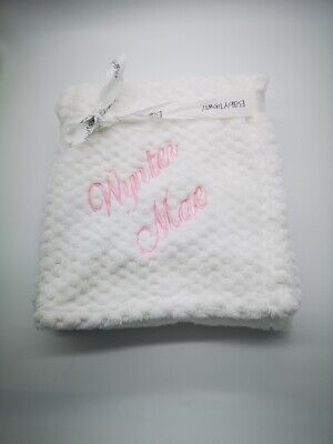 PERSONALISED WAFFLE super soft feel  embroidered blanket 4 colors